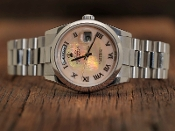 Rolex Platium President Pink Mother of Pearl Dial