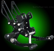 2011 Z1000 ABS / Ninja 1000 (Z1000SX) Sato Racing Rear Sets
